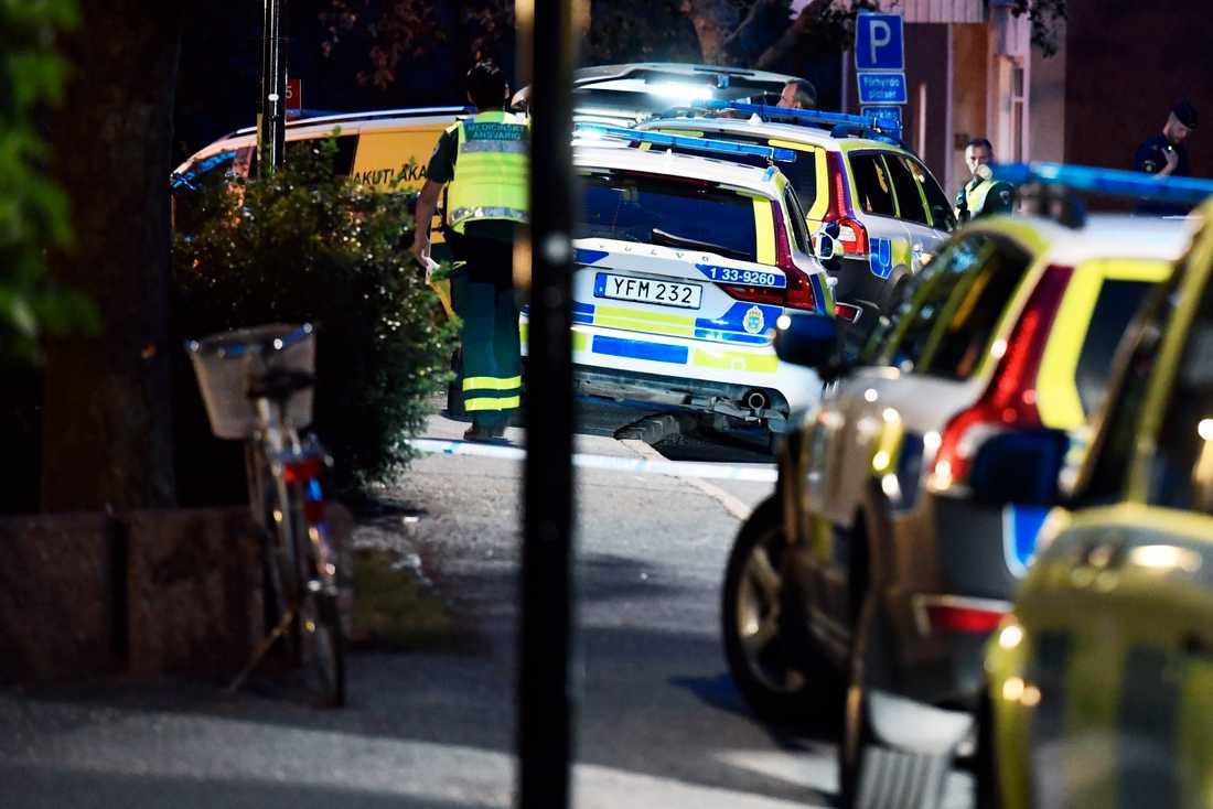 Skottlossningen var den sista av tre skjutningar i Stockholmsområdet under söndagskvällen.