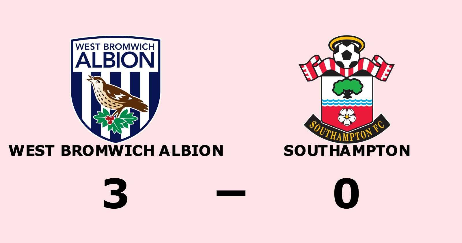 West Bromwich Albion tog kommandot från start mot Southampton