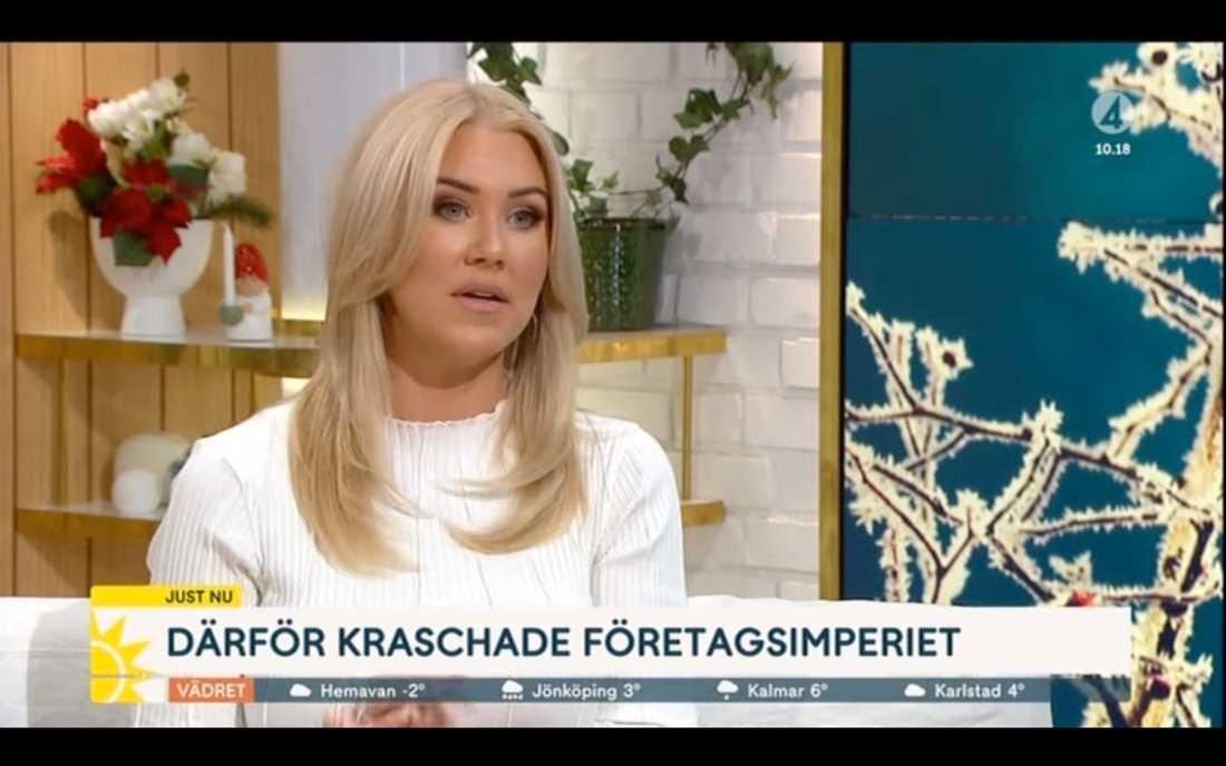 """Isabella Löwengrip erkänner bluffsiffrorna i TV4:s """"Nyhetsmorgon"""""""