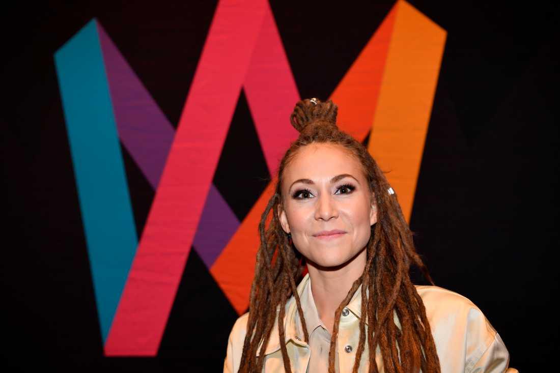 "Mariette tävlar med bidraget ""Shout it out"" i Melodifestivalens tredje deltävling. Arkivbild."