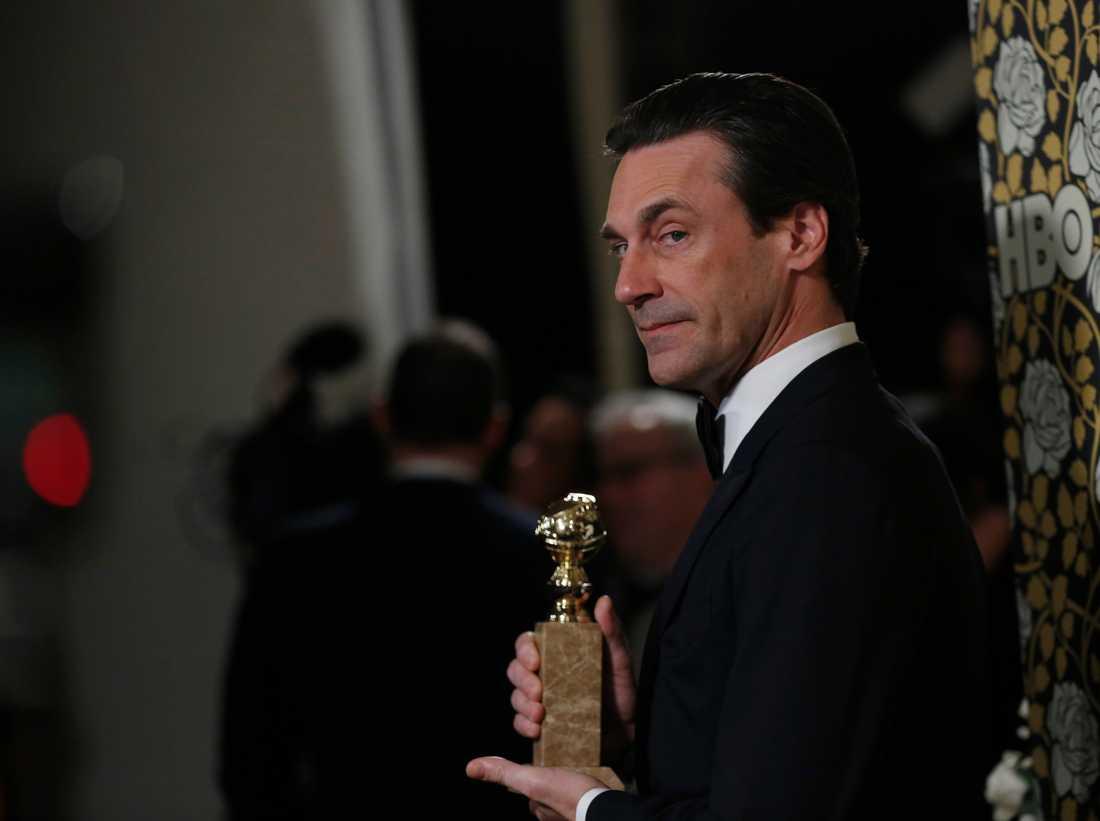 """Jon Hamm vann en Golden Globe för bästa manliga huvudroll i en dramaserie för """"Mad Men""""."""