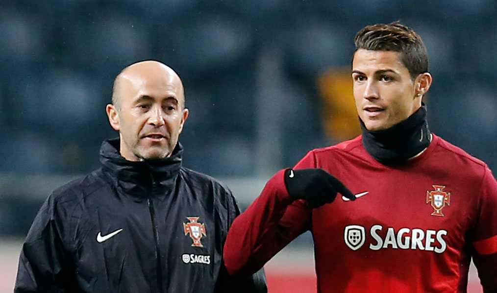Paulo Bento och Cristiano Ronaldo.