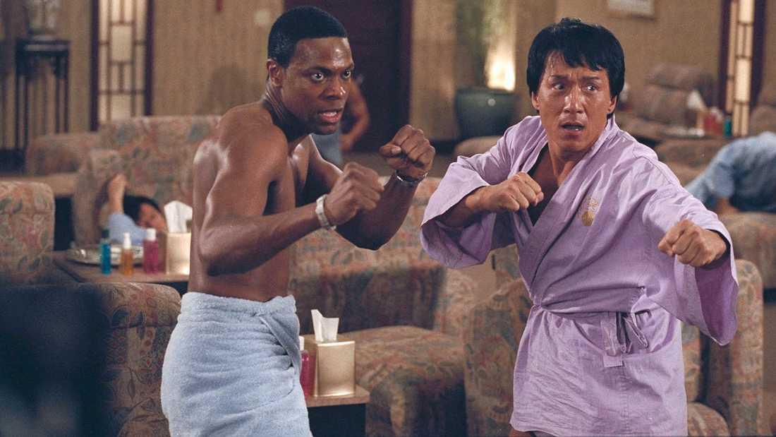 """Chris Tucker och Jackie Chan i Brett Ratner-regisserade """"Rush hour""""."""