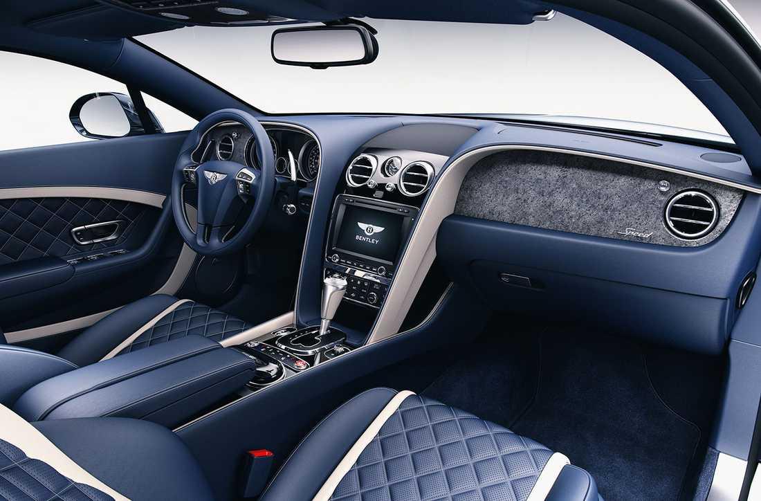 En Bentley Continental GT Speed med stenfanér i fägen Galaxy.