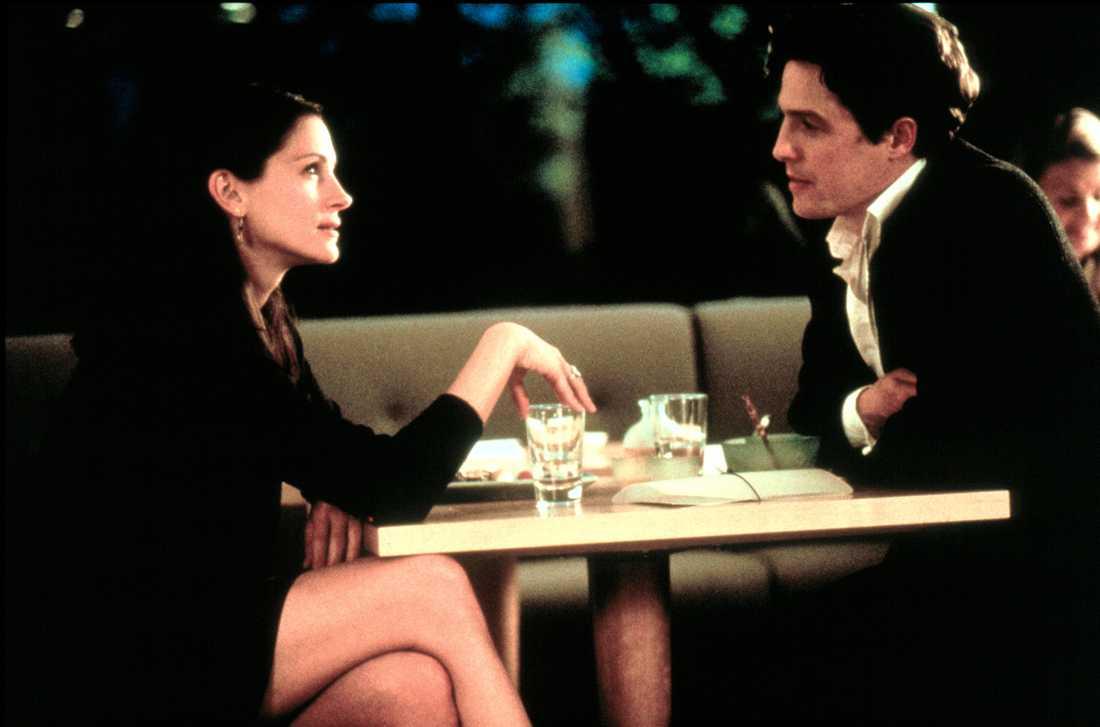 """Julia Roberts och Hugh Grant i """"Notting Hill""""."""