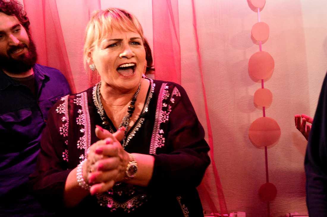 FEMINISTISK FRAMGÅNG Soraya Post (FI) firade valframgången i natt.