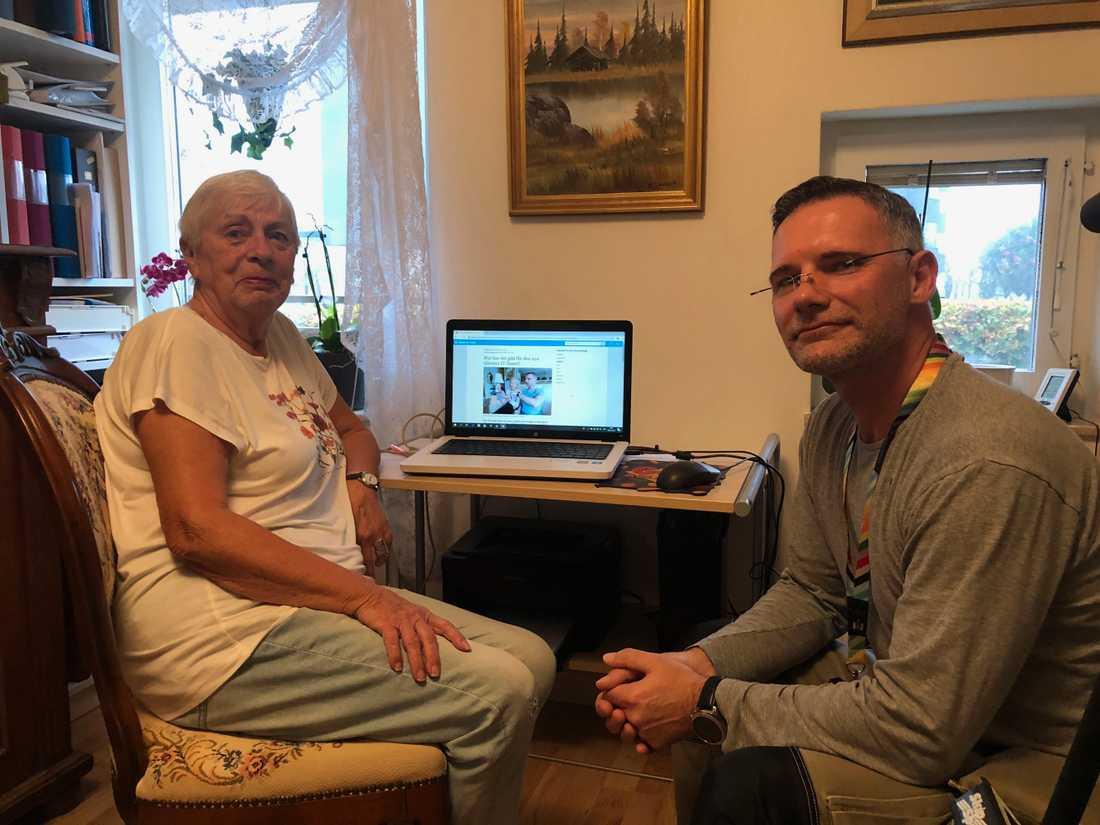 Gunilla Stenberg är en av alla pensionärer som fått hjälp av IT-fixaren Peter Boman.