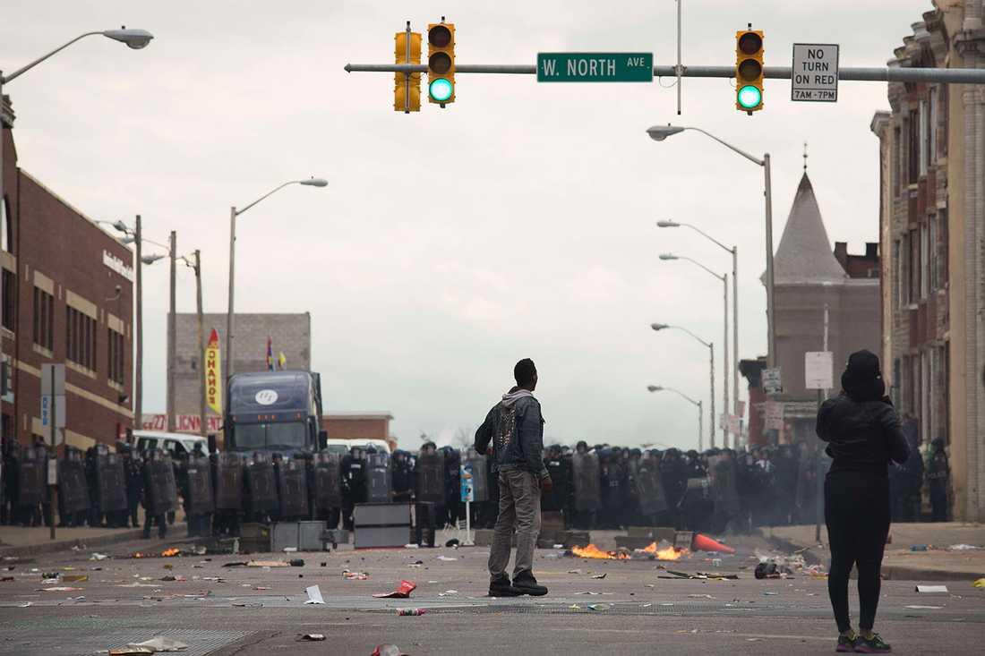 Kravaller i Baltimore.
