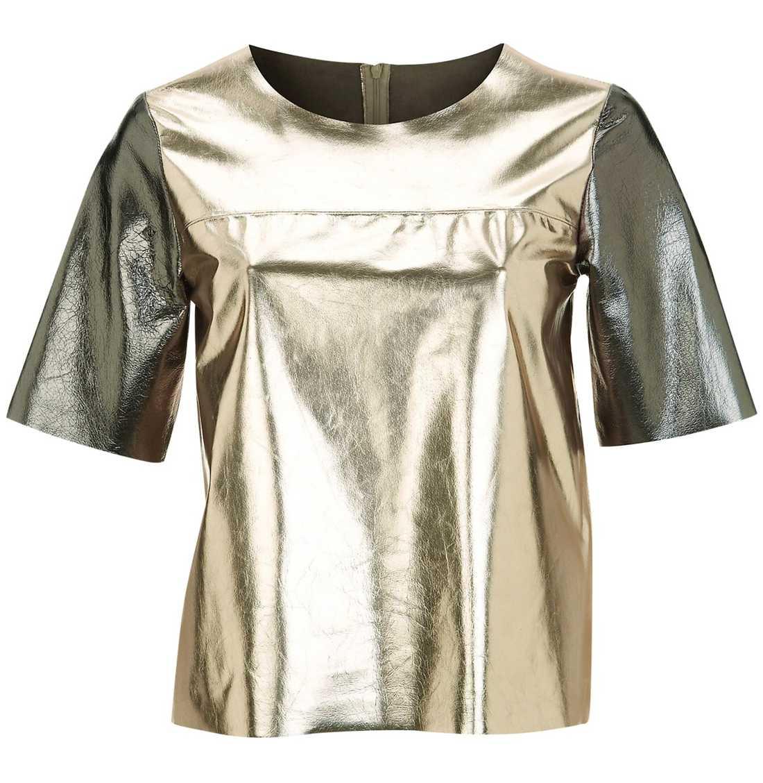 Färgat läder Topshop. 1 699 kr. Bär denna lädertopp till fest! Matcha med ett par tajta eller supervida byxor.