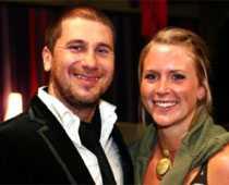 Marko med flickvännen Jessica Westergård.