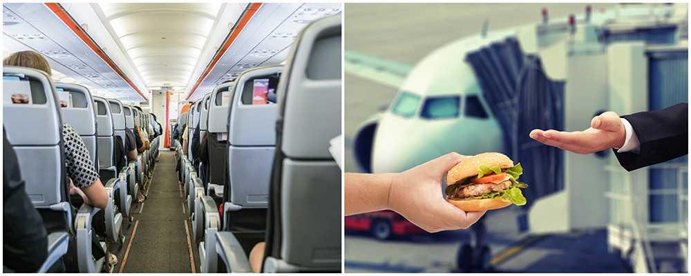 Flygkaptenen Matthew Hoshor efter att ha köpt hamburgare till alla passagerare ombord. Bilden är en genrebild.