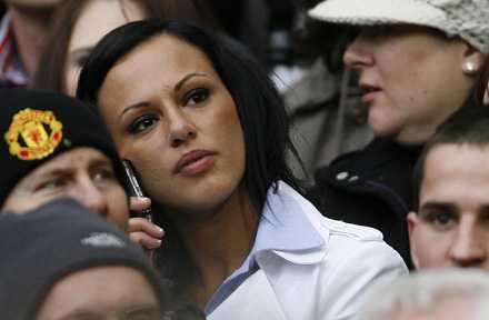 Ronaldos flickvän Nereida Gallardo.