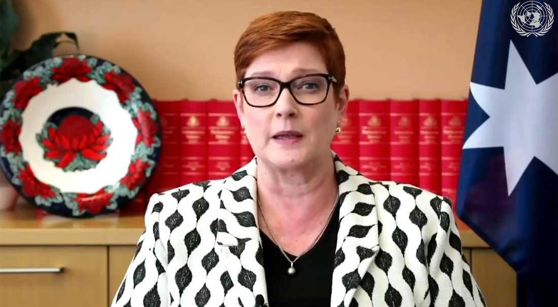 Australiens utrikesminister Marise Payne. Arkivbild.
