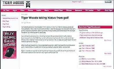 Brevet på tigerwoods.com.