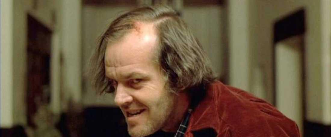 """Jack Nicholson i """"The shining""""."""