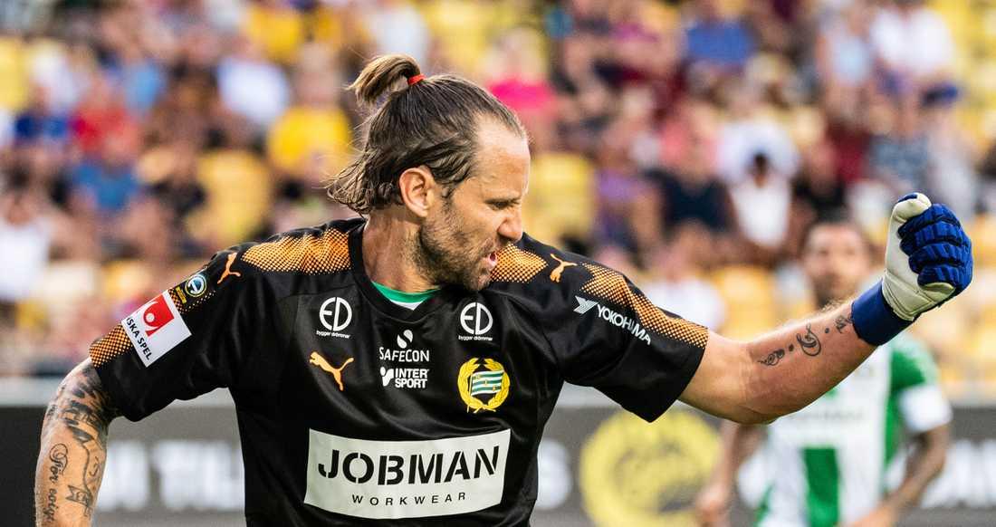 Johan Wiland räddade poäng åt Hammarby.