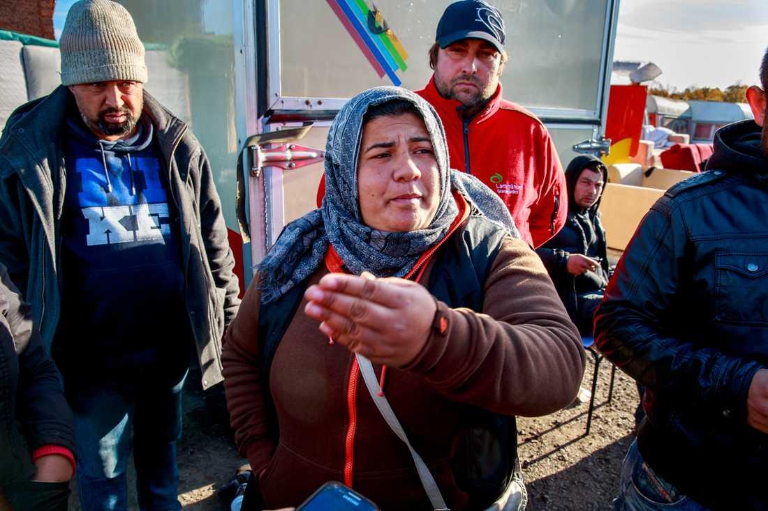 Beslut om utrymmning av Migrantläger i Malmö. Victoria Miclescu.