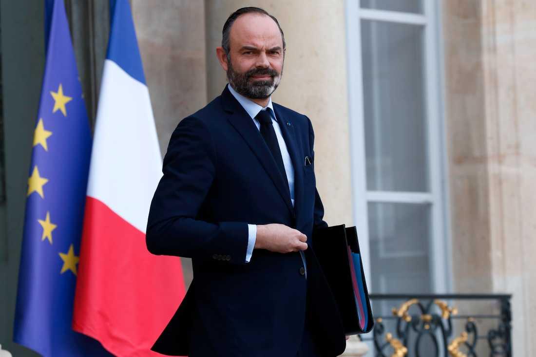 Frankrikes premiärminister Édouard Philippe ger besked om mer och tuffare förhållningsregler för att bekämpa coronaviruset. Arkivbild.