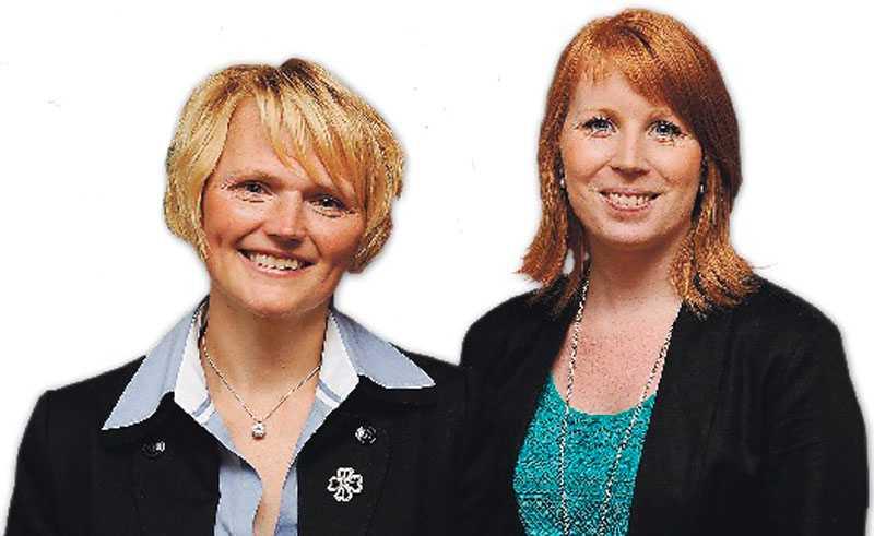 ledarkandidater  Mycket talar för att det blir Annie Lööf (till höger) som tar över efter Maud Olofsson trots att Anna-Karin Hatt alltid har stått i Olofssons skugga.