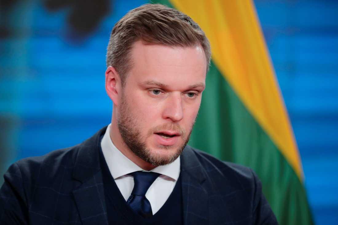 Litauens utrikesminister Gabrielius Landsbergis. Arkivbild.