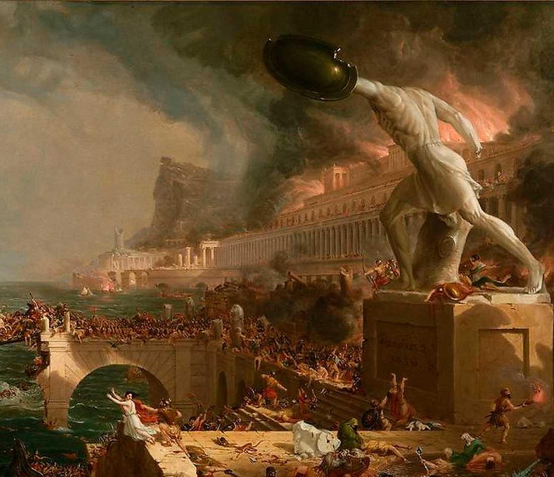 Efter 350 år av blomstrande herravälde drabbades Romarriket av klimatkatastrofer och dödliga epidemier. På 400-talet plundrades Rom av goter. En era var över.