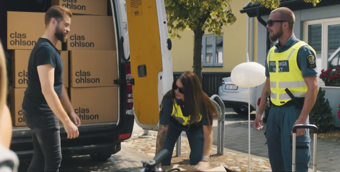 Bild ur reklamfilmen för Staffanstorps kommun.