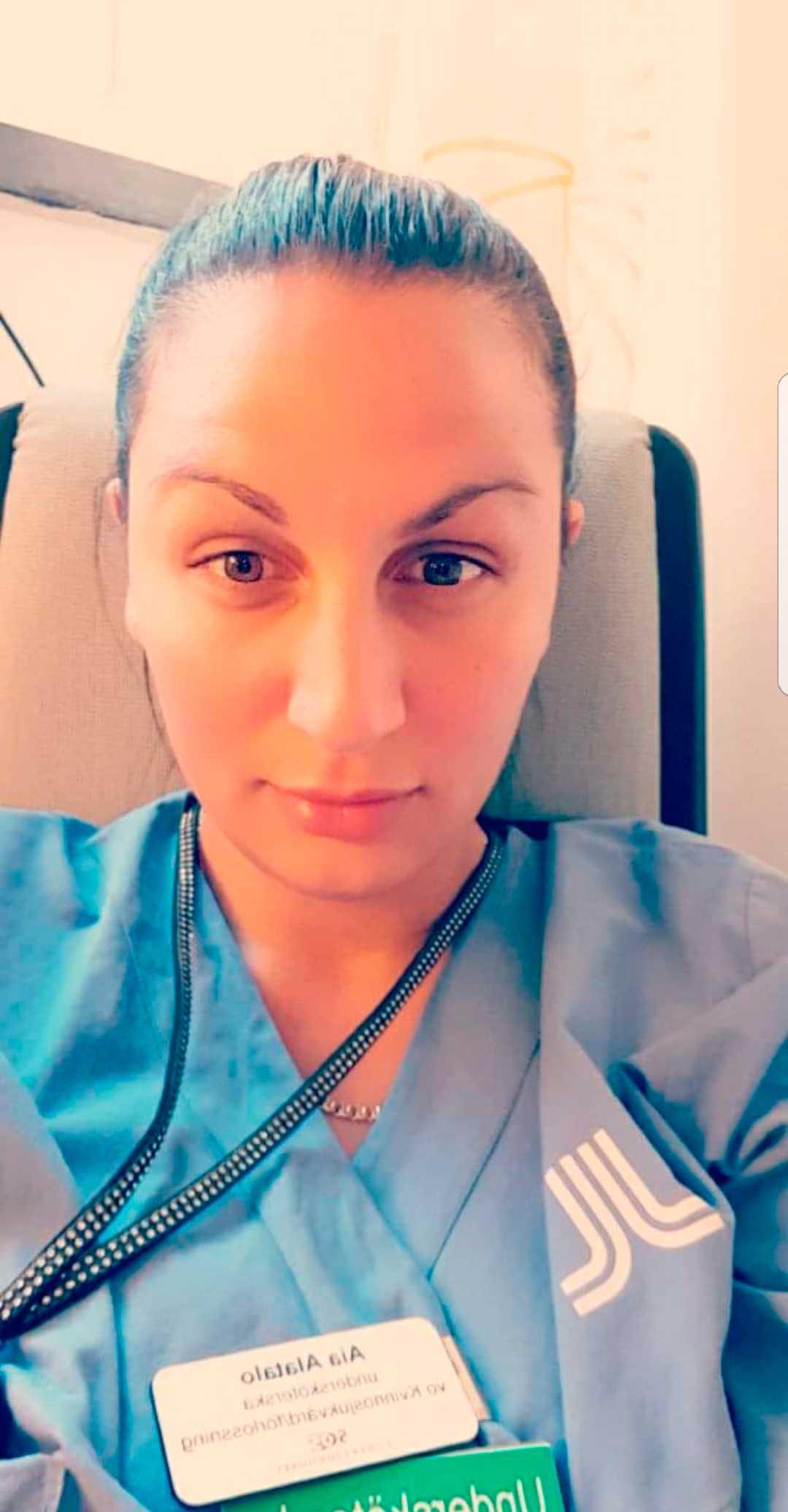 Aia Alatalo, 36, undersköterska på förlossningsavdelning.