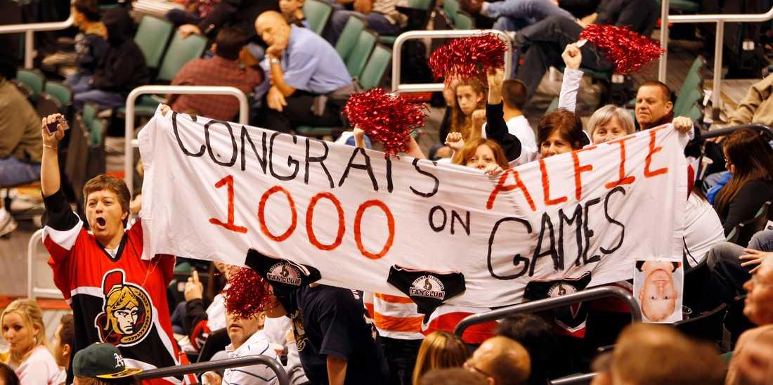 2010 gjorde han sin 1000:e match i Ottawa.