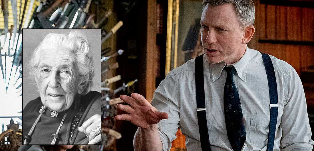 """Daniel Craig spelar huvudrollen i """"Knives out"""". T v Agatha Christie, en inspiration för regissören Rian Johnson."""
