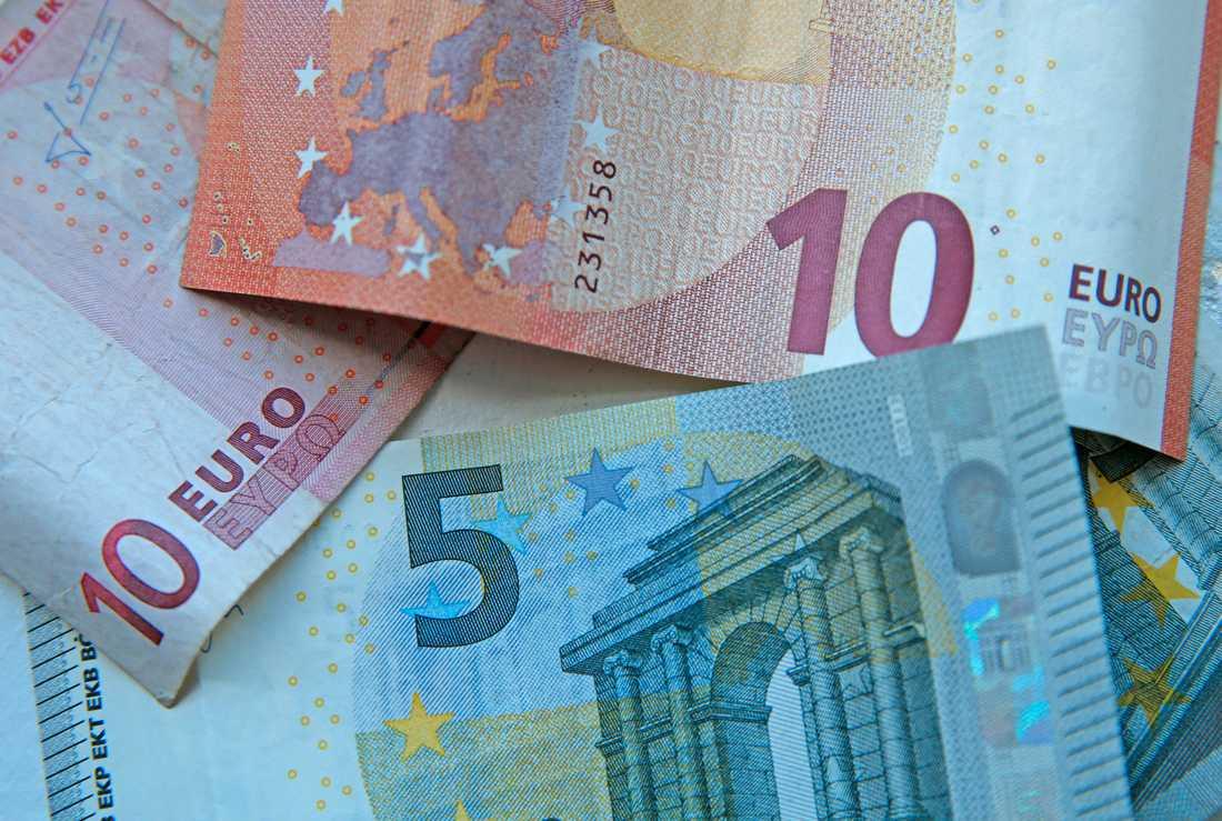 Äkta eurosedlar. Arkivbild.