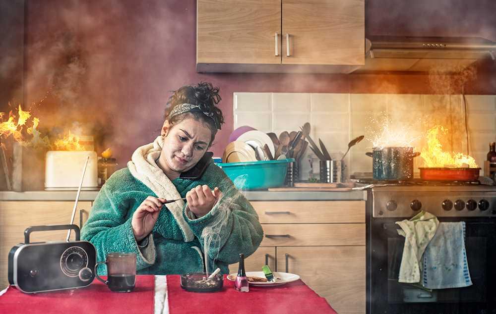 Spisen är hemmets största brandbov.