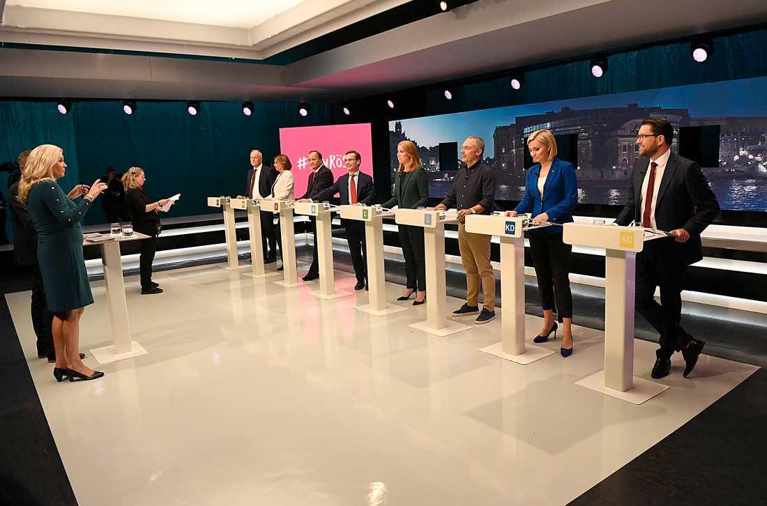 SVT:s sista partiledardebatt innan valet.