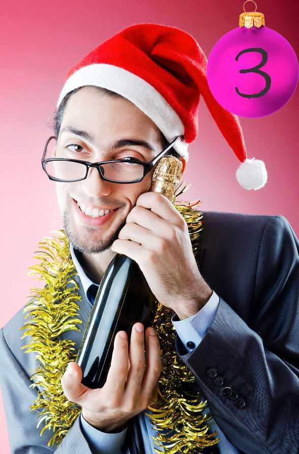 Johans tips: Glögga med måtta Dra ner på spriten. Bästa sättet att minska på alkoholintaget – gör det till ett MÅSTE att vara med på alla barns juldanser. Så hade vi det. Julafton i joggingdress, bara den är röd.