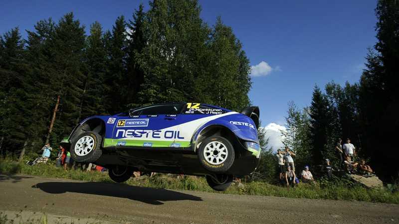 Juha Kankkunen och Juha Repo satsade hårt under Rally Finland.