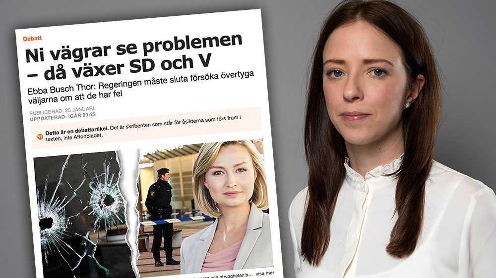 Ebba Busch Thor kanske inte ser rasismen och kvinnohatet på nätet som ett problem, eftersom hon lägger all kraft i sin debattartikel på att hävda att jag försöker undvika verkligheten. Jag undrar vem det är som stoppar huvudet i sanden, skriver Åsa Lindhagen (MP).