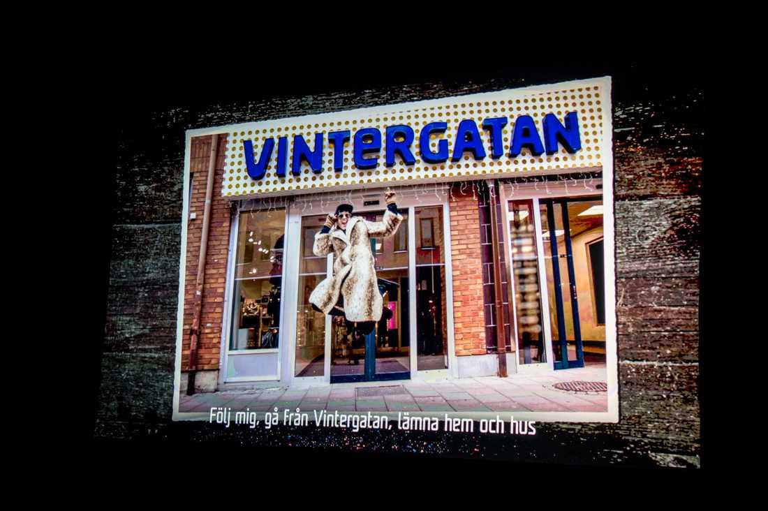 Melodifestivalen och David Lindgren ger den lokala gallerian Vintergatan gratisreklam