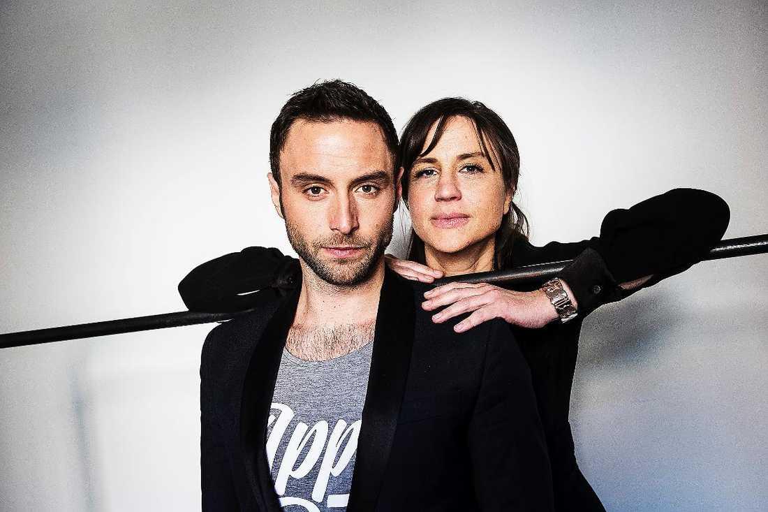 Måns Zelmerlöw och Petra Mede leder Eurovision song contest.