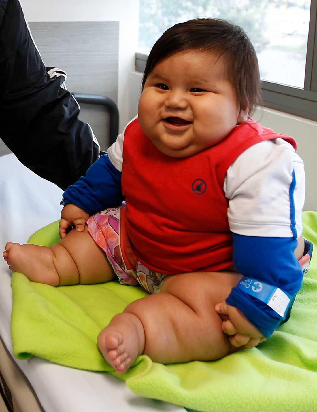 Bebisen matades som tröst.