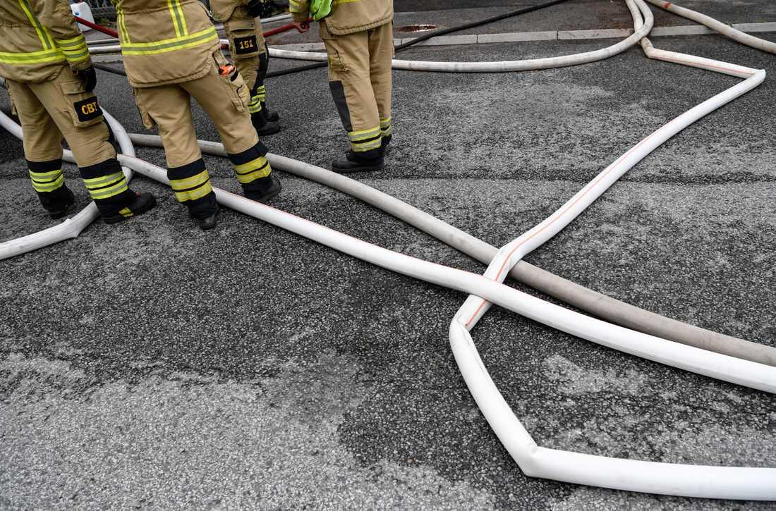En person har omkommit i en husvagnsbrand i Karlskrona. Arkivbild.