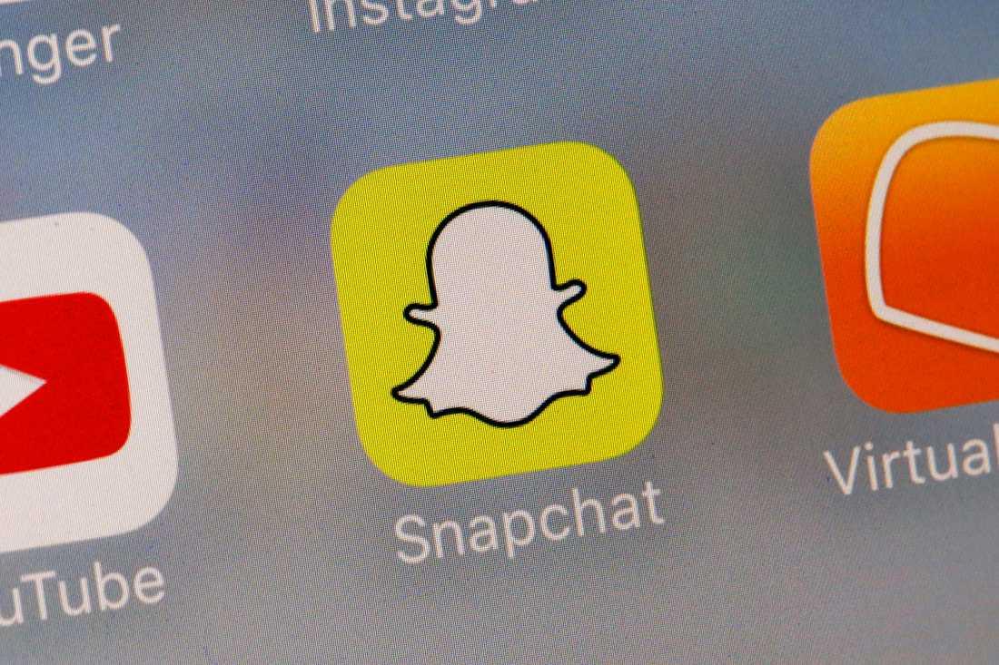 Snapchat var en av de sociala medie-plattformarna som var med i undersökningen. Arkivbild.