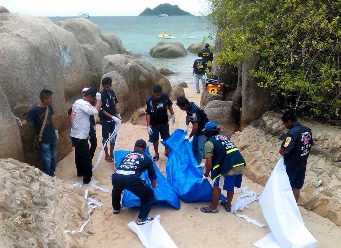 Hannah Witheridge, 23, och David Miller, 24, hittades halvnakna och döda på en strand på ön Koh Tao i Thailand.