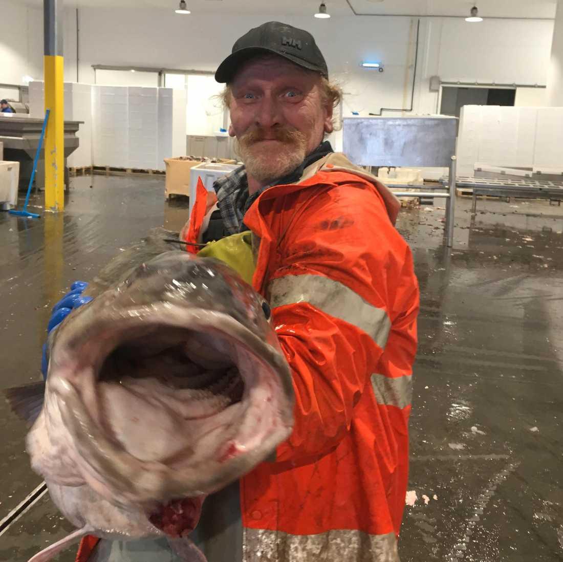 Det officiela världsrekordet i torsk är registrerat på 47,02 kilo till skillnad från Tonnys torsk som vägde 55,5 kilo.