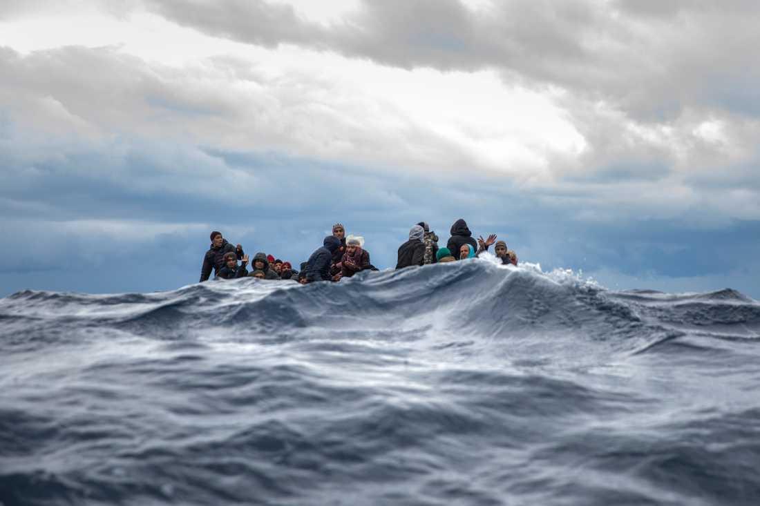 Närmare 400 migranter har stoppats i Medelhavet och återförts till Libyen i helgen. Arkivbild.