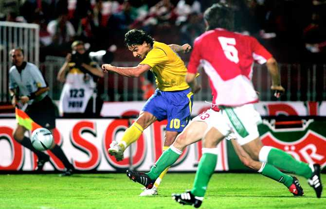 7 september 2005 gjorde Zlatan ett av sina viktigaste mål i karriären. I bortamatchen mot Ungern i VM-kvalet pangade han in 1-0 från nästan ingen vinkel alls. Och detta i matchminut 90... Segern innebar att blågult tog sig förbi Kroatien i VM-kvalgrupp 8.