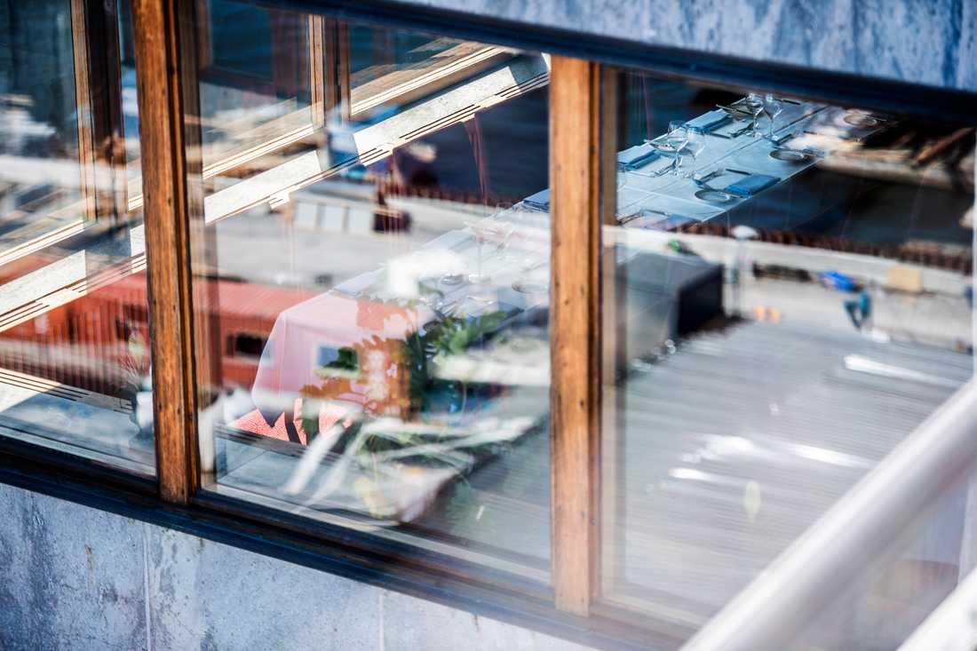 Gondolen i Stockholm skakas av sprängningarna för nya Slussen.