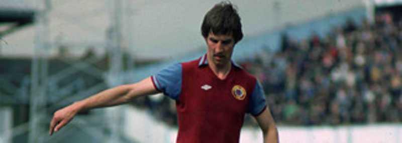 """Tipsextra-hjälte Aston Villas försvarare Chris Nicholls var en ofta återkommande profil i klassiska """"Tipsextra""""."""