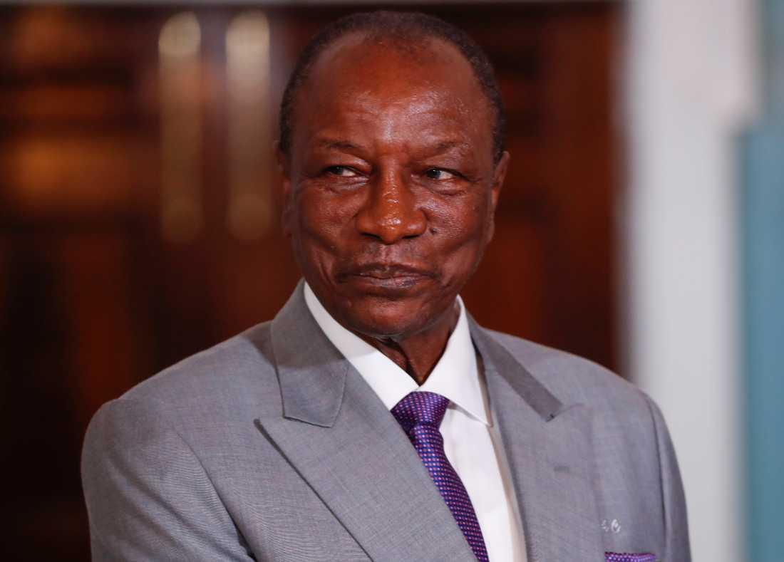 Guineas president Alpha Conde har antagit en ny grundlag. Arkivbild.