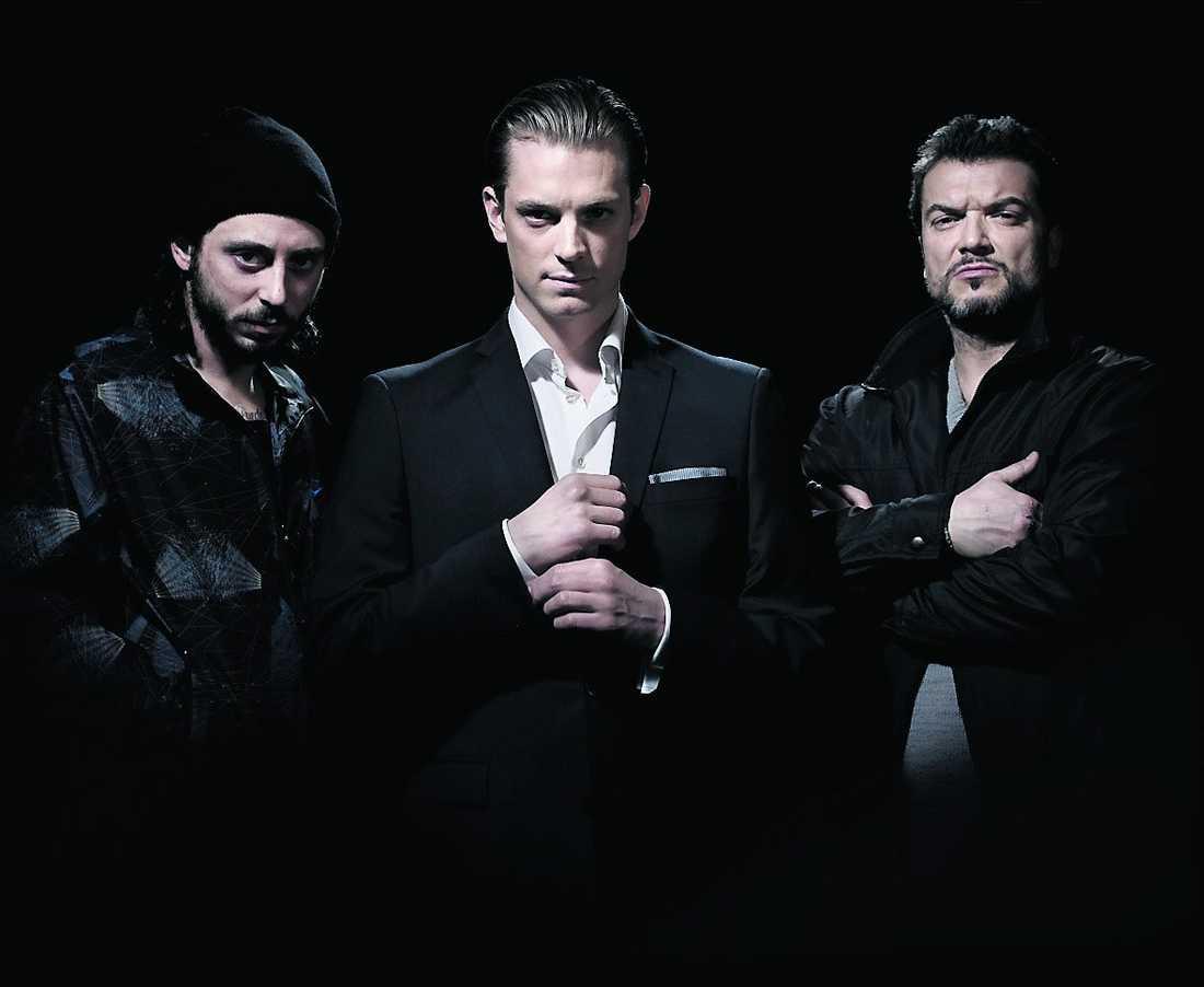 "Matias Padin som Jorge, Joel Kinnaman som JW och Dragomir Mrsic som Mrado i ""Snabba cash""."