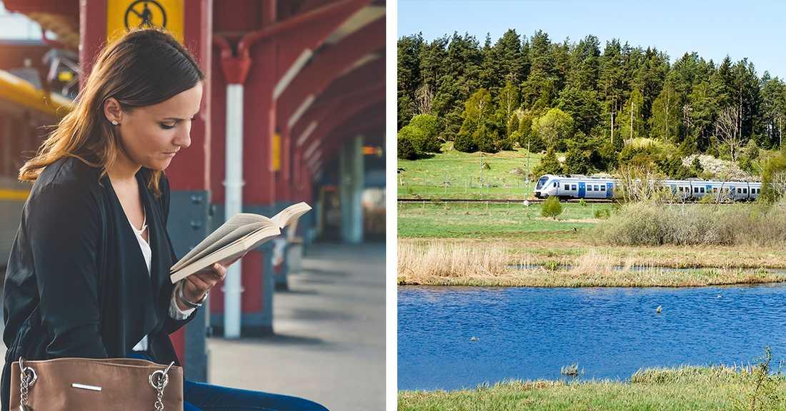 När Folkhälsomyndigheten har hävt reserestriktionerna för resor inom Sverige  vill allt fler ta tåget.