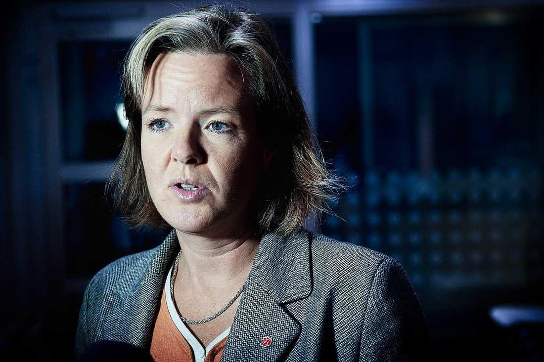 Carin Jämtin, partisekreterare Gick inte att nå, enligt presssekreterare Fredrik Persson.